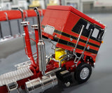 1/64 DCP / FIRST GEAR K100 KENWORTH STRETCH CHASSIS BLACK AND RED WITH TIPPER  TRAILER
