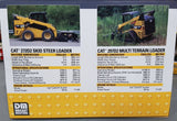 1/64 DIECAST MASTERS CAT TWIN SET 272D2 SKID STEER AND 297D2 MULTI TERRAIN LOADERS