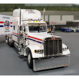 1/64 DCP / FIRST GEAR PETERBILT 379 DISCOUNT FREIGHT EXPRESS WITH TRI AXLE TRAILER