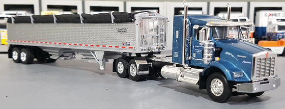 SALE ITEM 1/64 DCP / FIRST GEAR KENWORTH T800 FREDERICK HIGH SIDED GRAIN TRAILER 60-0606