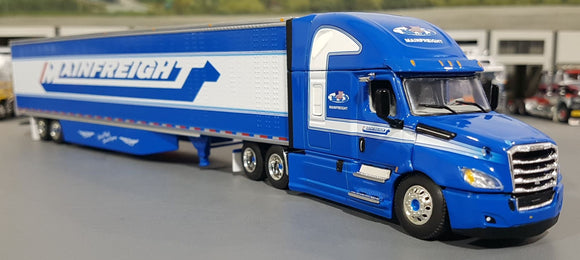 1/64 DCP / FIRST GEAR FREIGHTLINER MAINFEIGHT WITH SIDE SKIRTED TRAILER 60-0714