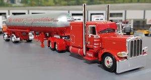1/64 DCP / FIRST GEAR PETERBILT 389 RED ACCORD WITH LPG TANKER TRAILER