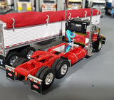 1/64 DCP PETERBILT 359 DAY CAB BLACK/RED WITH GRAIN TRAILER NEW IN BOX