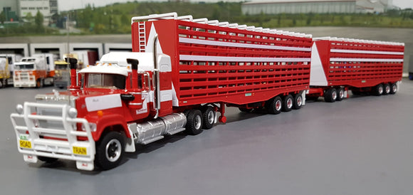 1/64 HIGHWAY REPLICAS BARKLY TRANSPORT MACK SUPERLINER ROADTRAIN