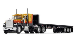 PRE ORDER DEPOSIT 1/64 SCALE MACK SUPERLINER ORANGE AND BLACK WITH TRI TRAILER 60/0975
