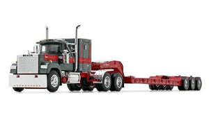 PRE ORDER DEPOSIT 1/64 SCALE MACK SUPERLINER GREY AND RED WITH TRI LOWBOY TRAILER 60/0977