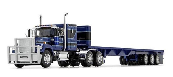 PRE ORDER DEPOSIT 1/64 SCALE MACK SUPERLINER BLUE AND BLACK WITH TRI TRAILER 60/0987