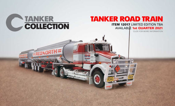 PRE ORDER 1/64 SCALE  HIGHWAY REPLICAS KENWORTH SAR REDNORTH ROADTRAIN DOUBLE