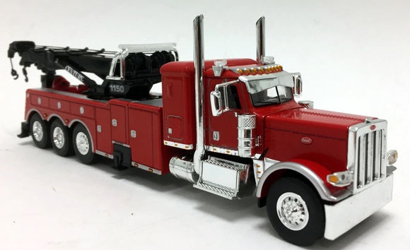 1/64 SCALE PETERBILT 389 HEAVY TOWING ROTATOR TRUCK IN RED DCP/FIRST GEAR