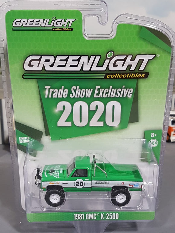 1/64 GREENLIGHT 2020 GMC TRADE SHOW 1981 GMC K2500 NEW ON CARD
