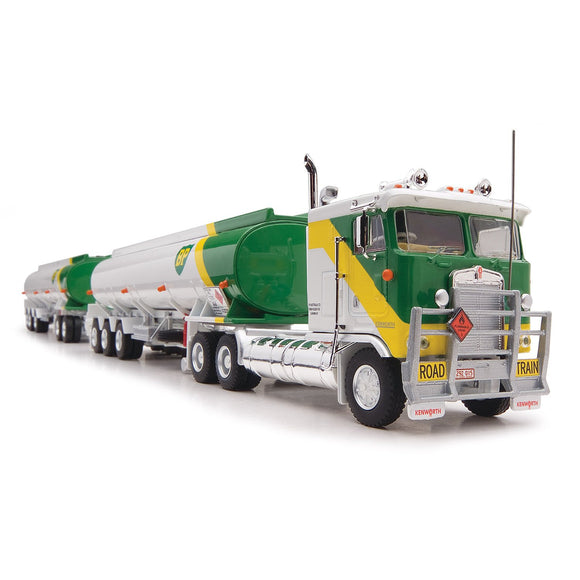 1/64 HIGHWAY REPLICAS BP KENWORTH CAB OVER ROADTRAIN