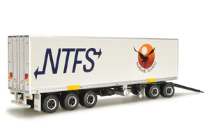 1/64 HIGHWAY REPLICAS NTFS BOX TRAILER AND DOLLY