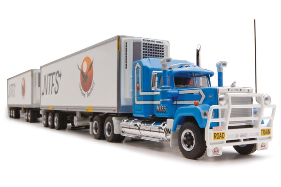 1/64 HIGHWAY REPLICAS MACK SUPERLINER NTFS ROADTRAIN TRIPLE
