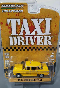 1/64 GREENLIGHT TAXI DRIVER 1975 CHECKER TAXI FROM THE MOVIE NEW ON CARD