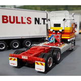 1/64 HIGHWAY REPLICAS BULLS KENWORTH CAB OVER DOUBLE ROADTRAIN
