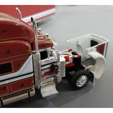 1/64 DCP / FIRST GEAR PETERBILT 379 FREESTONES WITH TRI AXLE TRAILER
