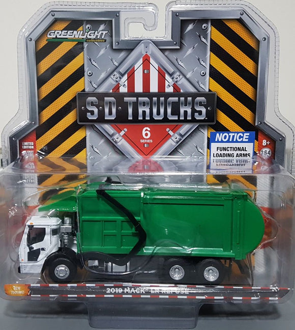 1/64 GREENLIGHT MACK LR FRONT LOADING RUBBISH TRUCK  CAR NEW ON CARD