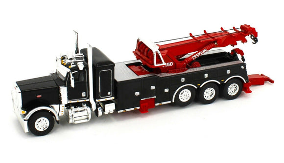 1/64 SCALE PETERBILT 389 HEAVY TOWING ROTATOR TRUCK IN BLACK DCP/FIRST GEAR