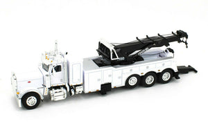 1/64 SCALE PETERBILT 389 HEAVY TOWING ROTATOR TRUCK IN WHITE DCP/FIRST GEAR