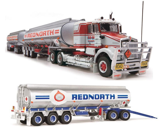 PRE ORDER 1/64 SCALE  HIGHWAY REPLICAS KENWORTH SAR REDNORTH ROADTRAIN TRIPLE