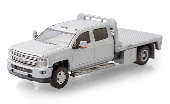 GREENLIGHT  • 2015 CHEVROLAET SILVERADO 3500 HD FLAT BED DUALLY NEW ON CARD