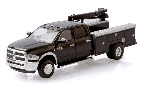 GREENLIGHT  • 2018 RAM 3500 IN BLACK CRANE TRUCK DUALLY NEW ON CARD