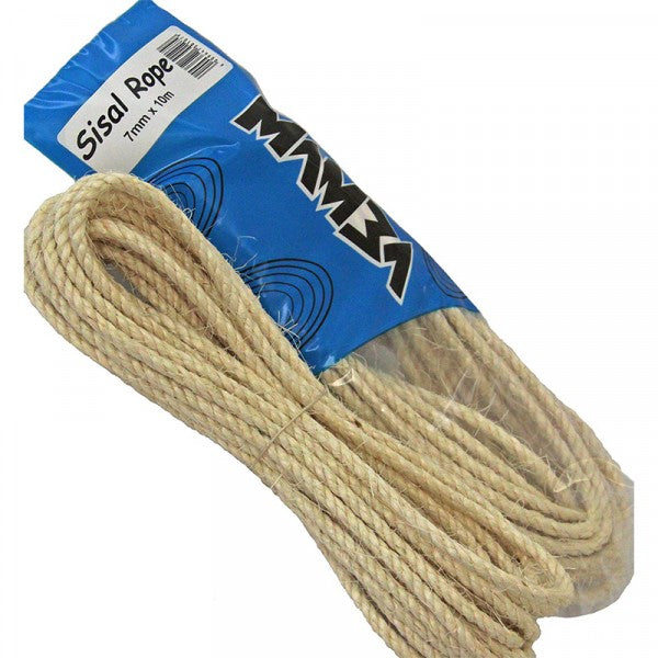 Sisal Rope Hank 7Mm X 15M