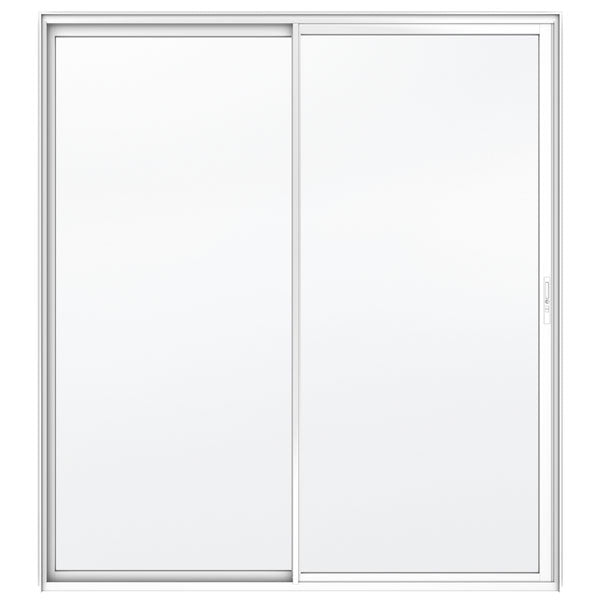 White Aluminium Single Sliding Door G1 2400 x 2100 5mmTSG