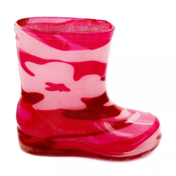 Bata Infant Gumboot Pink Camo Size 4