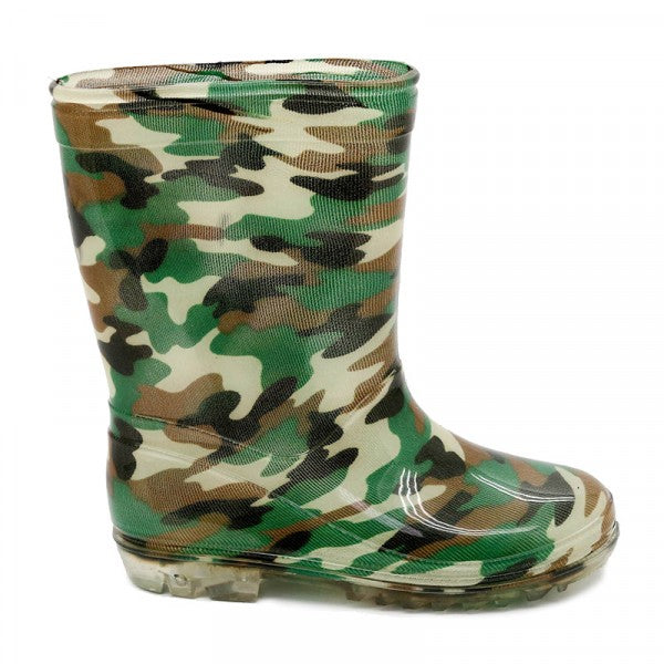 Bata Infant Gumboot Green Camo Size 4