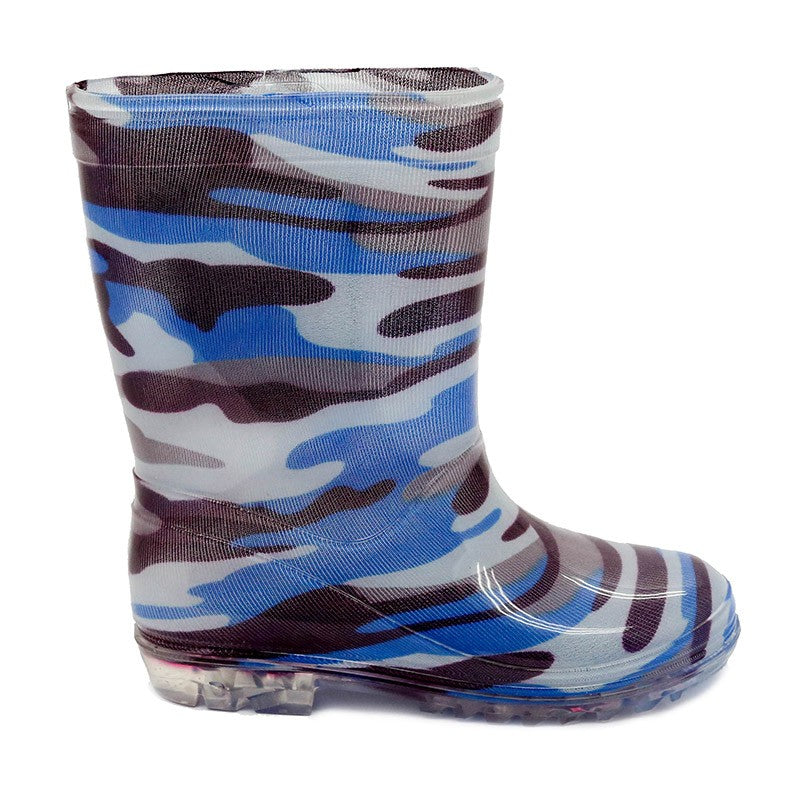 Bata Infant Gumboot Blue Camo Size 6