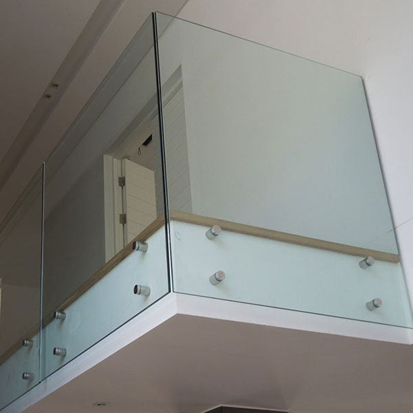 Side Mounted Frameless Glass Balustrade with No Handrail