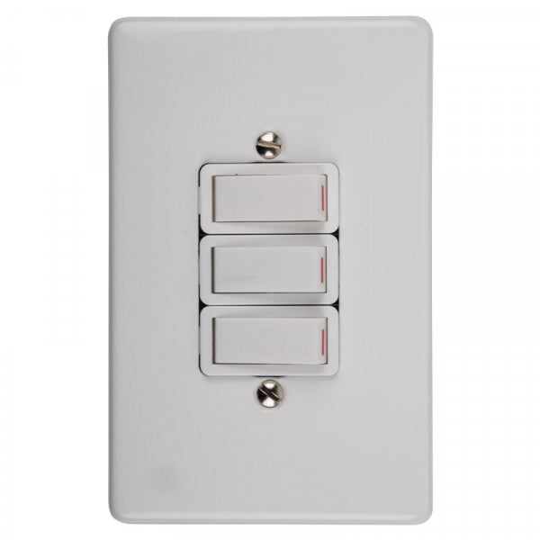 Crabtree Switch Light 3l 1way Complete 100x50mm