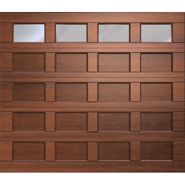 20 Panel G4 Polycarb Single Marine Ply Tech Garage Door