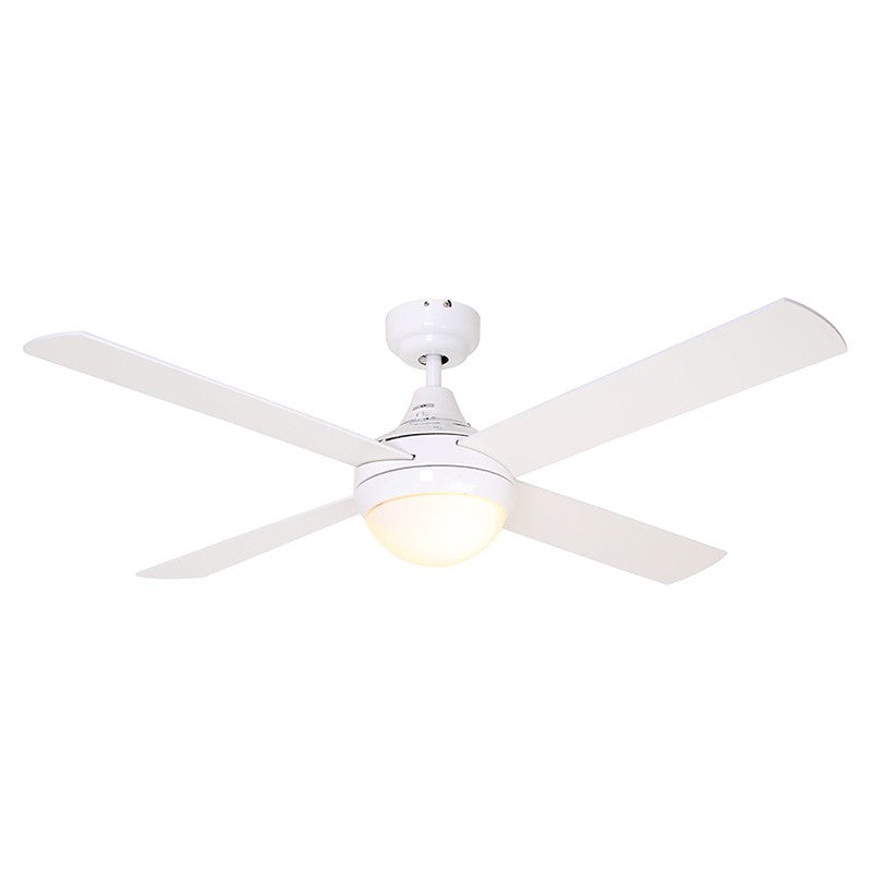 EUROLUX CEILING FAN TWISTER 4 BLADE WHITE