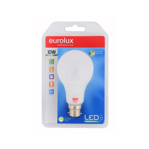 Eurolux Lamp Led A65 10w B22 Ww