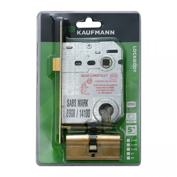 Kaufmann Lockbody Cyl Profile & Cyl S/Brass