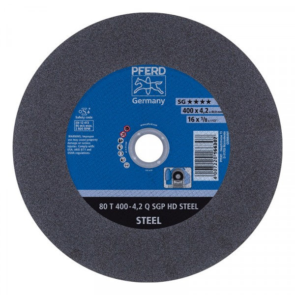 Pferd Cutting Disc Steel Flat 400Mm 40 Bore Sg-Hd
