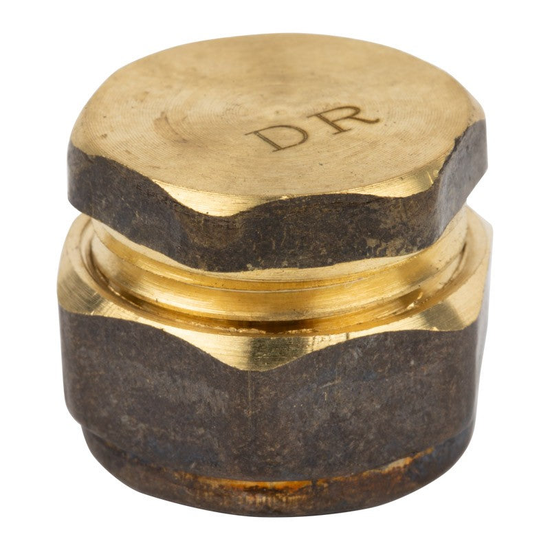 Compression Brass End Cap 15mm pkt 10
