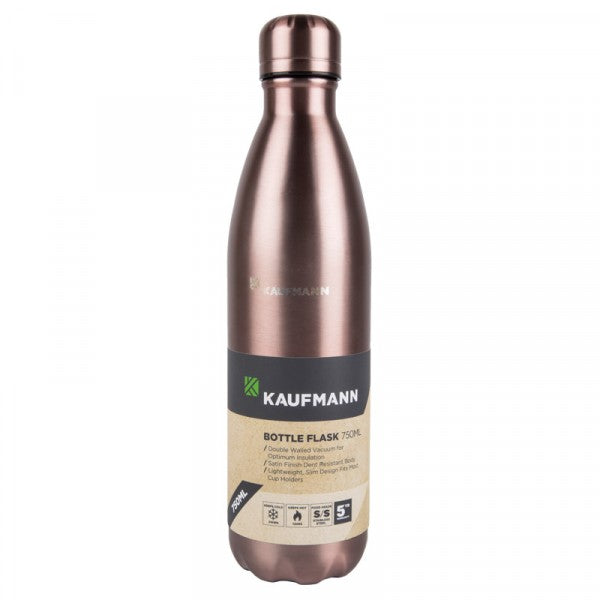 Kaufmann Flask Bottle S/steel Pink Diamond 4 x 750ml set