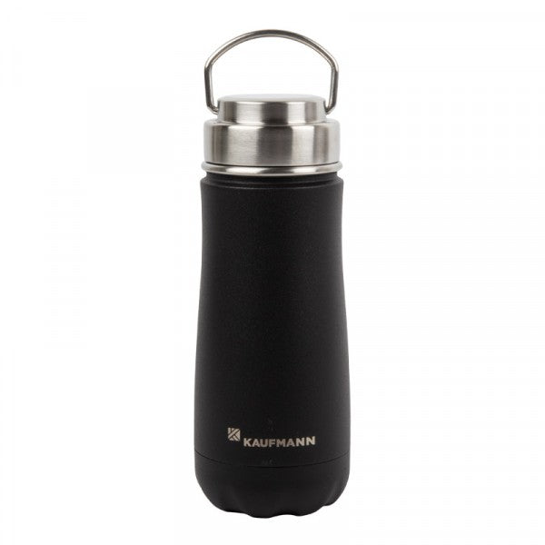 Kaufmann Flask Traveler S/steel Blk 470ml