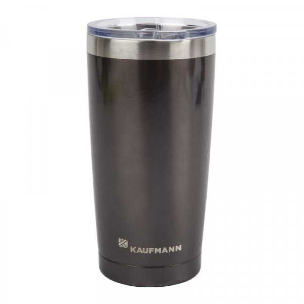 Kaufmann Tumbler Dbl Wall With Lid Gry 500ml
