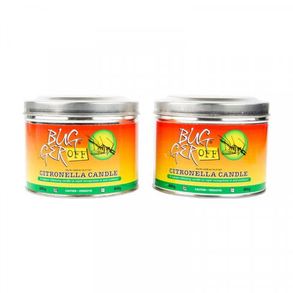 Bugger Off Citronella Candle 2 x 800g twin pack