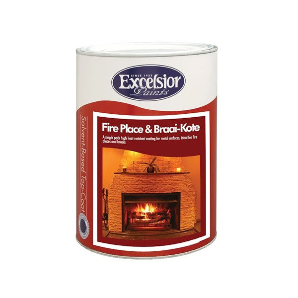 Excelsior Fire Place & Braai Cote High Heat 1L Blk