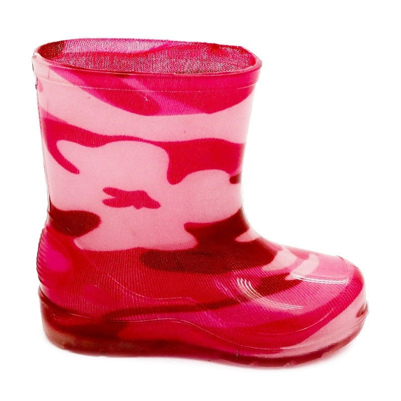 Bata Infant Gumboot Pink Camo Size 10