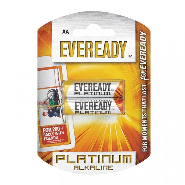 Eveready Platinum Alkaline Battery Lr6 Aa 20 x 2 Pack
