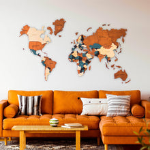 Load image into Gallery viewer, 3D Wooden World Map - 02