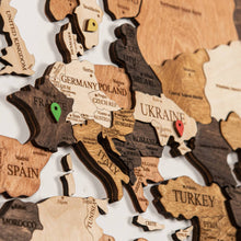 Load image into Gallery viewer, 3D Wooden World Map