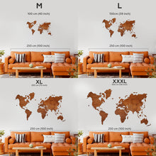 Load image into Gallery viewer, Wooden World Map - Brown Color
