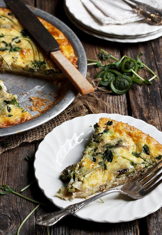 Spring Fiddlehead and Herb Quiche! Oh My!!
